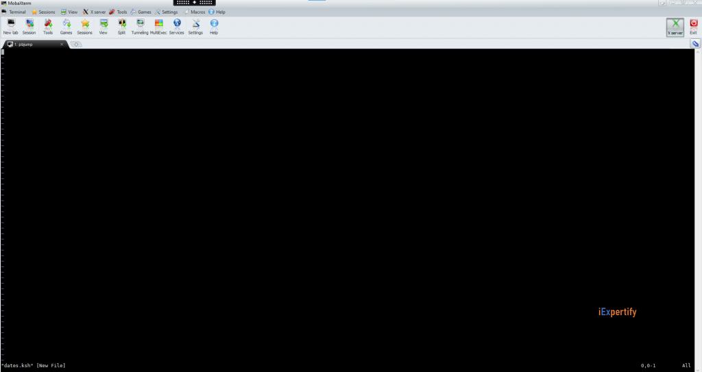 vi editor open new file